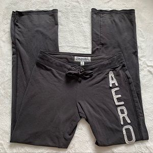 AEROPOSTALE   Grey wide leg joggers size M